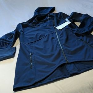 NWT Yoga Asymmetric Hooded  Softshell Jacket!